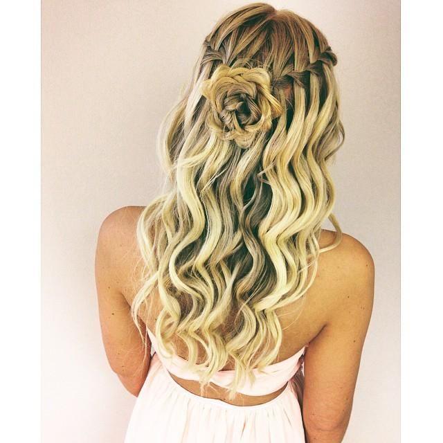 waterfall braid curls and rose braid | Make-Up & Hair favs ...