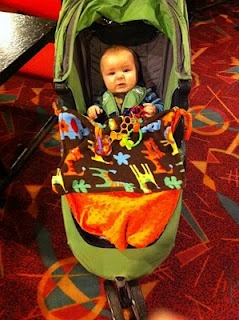 A stroller blanket that I made in under 1 hour.  Instructions for making your own.