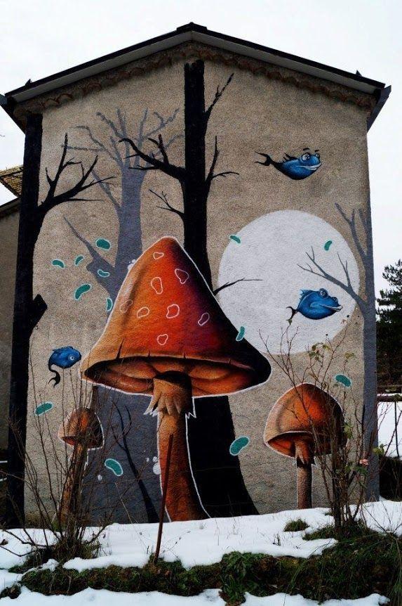 Must set up street art board! DMS, world's best street art, urban art, graffiti artists, street artists, free walls, wall murals.