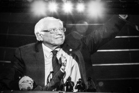 Senator Bernie Sanders at the 2016 Democratic National Convention in Philadelphia, Pennsylvania, July 25, 2016.