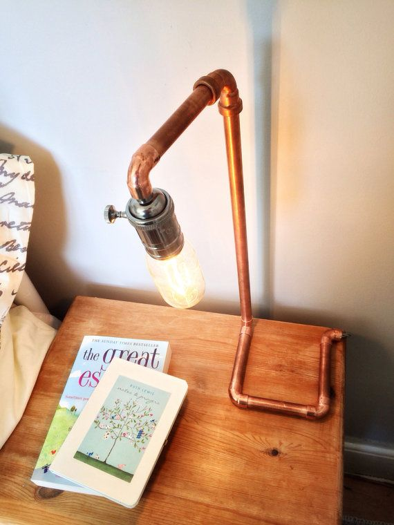 Copper pipe steam punk lamp by SkyHighDesign on Etsy, £42.00