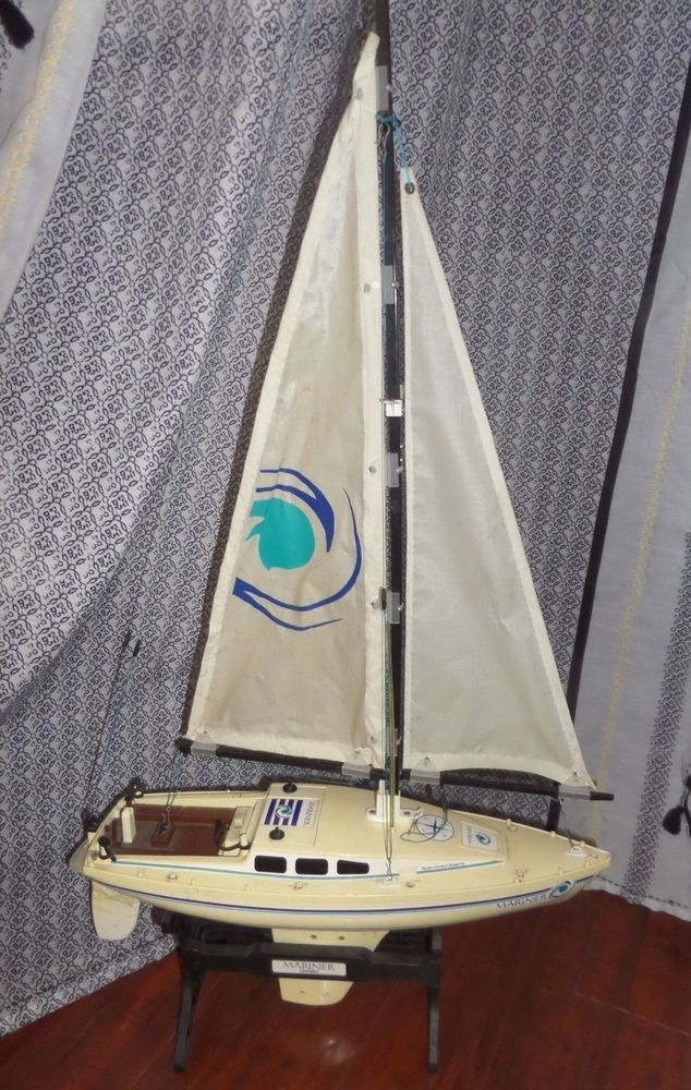 Available For Limited Time Vintage Rc Radio Control Nikko Mariner Sail Boat Broken For
