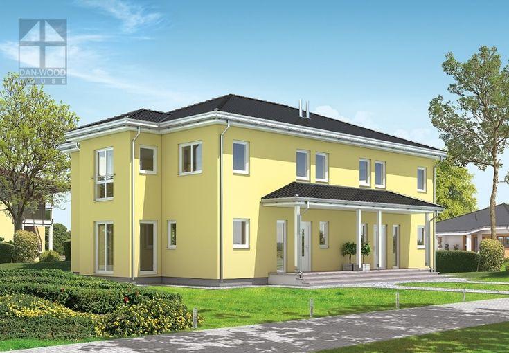 Doppelhäuser Danwood Partner 128.10W || #doppelhauser || http://www.danwood.de/hauser/doppelhauser/partner-128-10w