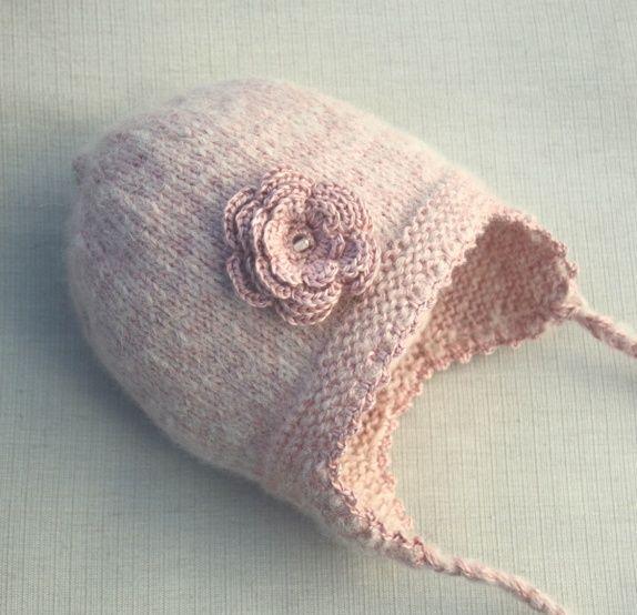 Rosa lue i alpakka og silke 3-4 år