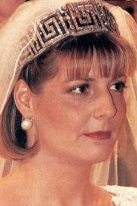 Greek Key Tiara of Romania on Princess Marie of Romania