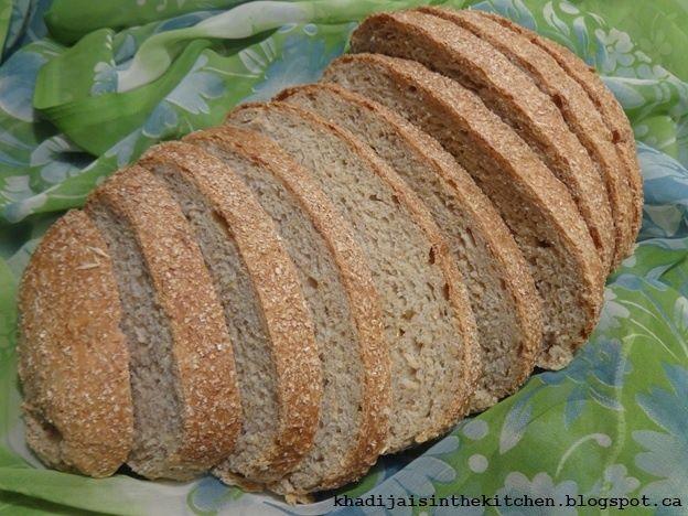 Khadija is in the Kitchen: PAIN AU SON DE BLÉ / WHEAT BRAN BREAD / PAN CON SALVADO DE TRIGO / خبز بالنخالة