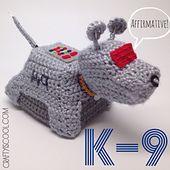 Ravelry: Doctor Who's K-9 Robo Dog Amigurumi pattern by Allison Hoffman
