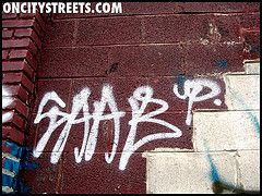 graffities with the name of saab!!!