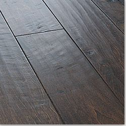"wide planked hand scraped engineered hardwood flooring. Vanier cosmopolitan birch in ""truffle"" from Build Direct."