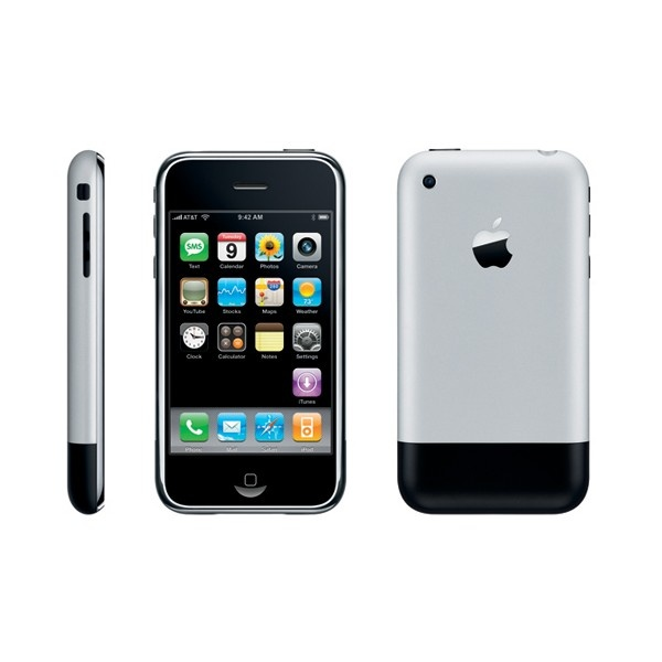 The first iPhone. iPhone 2G
