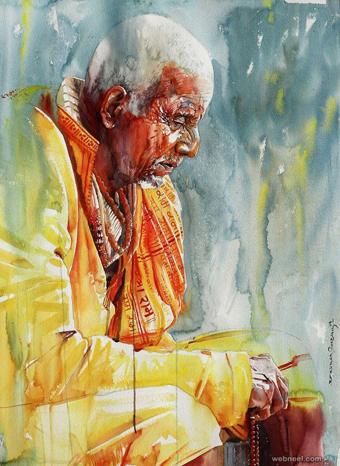 watercolor painting by rajkumar sthabathy Painting