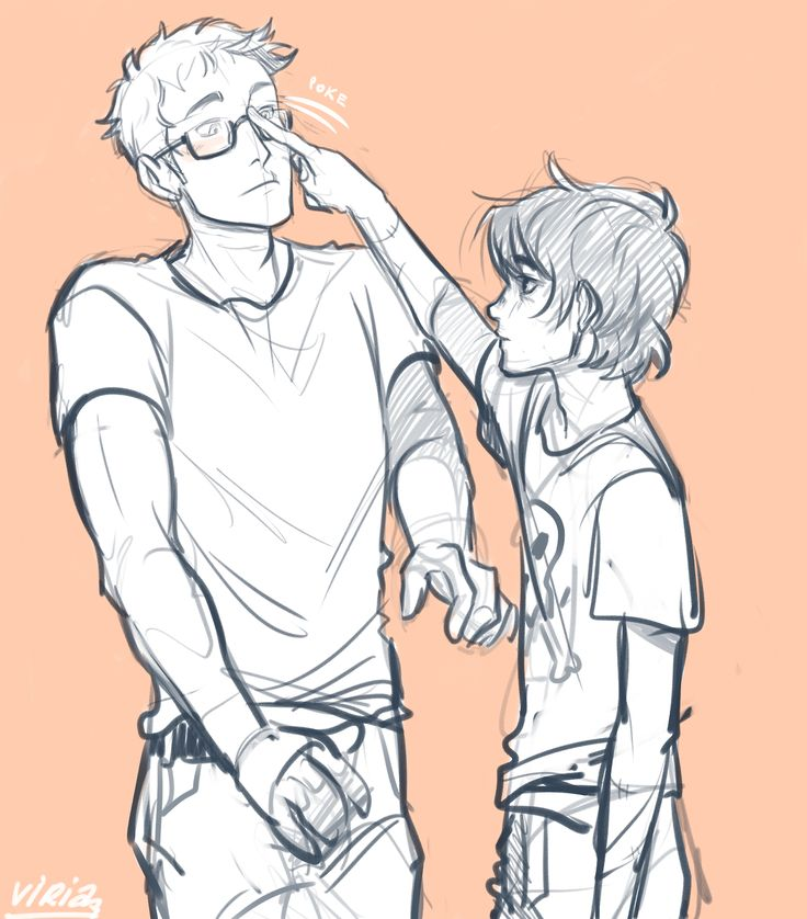 Nico is super OCD, so he feels the need to fix Jason's glasses constantly. So cute! Thanks and credit to Viria.