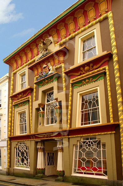 the egyptian house, penzance, cornwall, england. stayed here for a week on my 30th birthday. second floor window on the right was my room. people are constantly taking pictures of it ... i must have made it into hundreds of photos that week ... sitting in the window and journalling ...