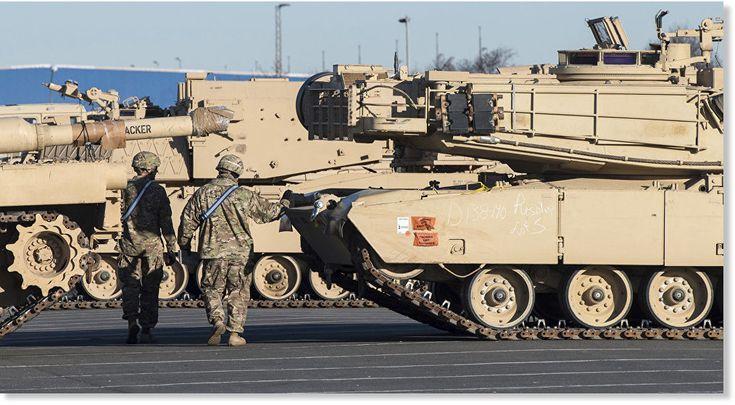 """""""El despliegue de tanques de EEUU en Europa parece otra aventura geopolítica al estilo vaquero"""", opina Alexandr Jrolenko, columnista de RIA Nóvosti. Solo durante el mes de enero, el Pentágono tiene previsto aumentar su contingente militar en..."""