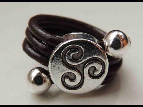 Tutorial DIY como hacer un anillo de cuero. Ring leather. - YouTube