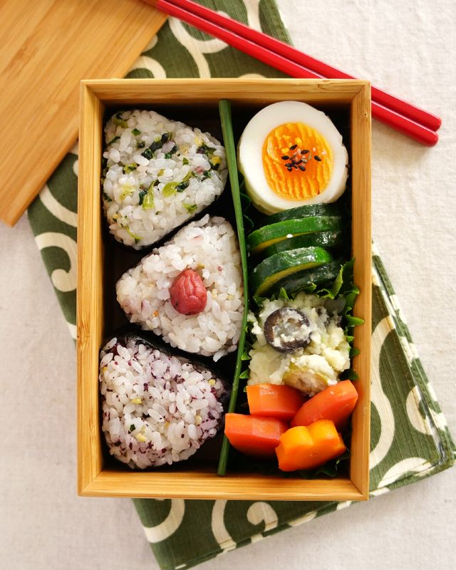 Japanese Boxed Lunch, Onigiri Bento, おにぎり弁当, Rice Ball