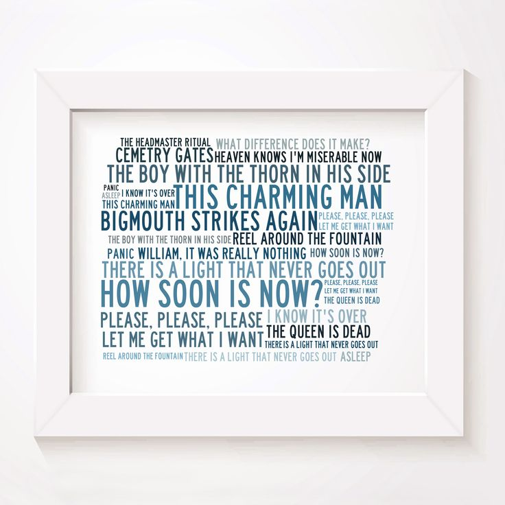 The Smiths u0027Crystallineu0027 limited edition typography lyrics art print signed and numbered album  sc 1 st  Pinterest & 15 best The Smiths images on Pinterest