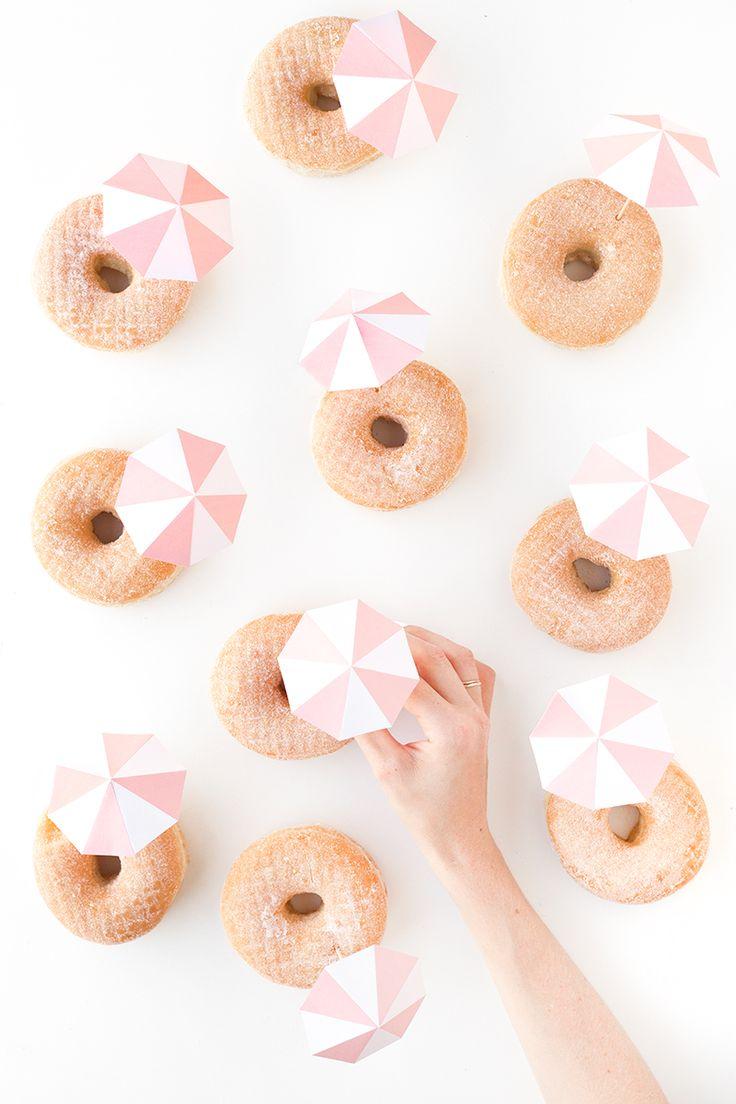 DIY Pink Umbrella Donuts