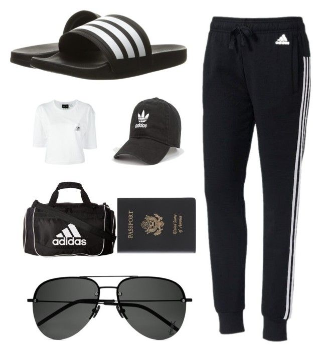 """""""A Attire"""" by thelomthethwa on Polyvore featuring adidas, Royce Leather and Yves Saint Laurent"""
