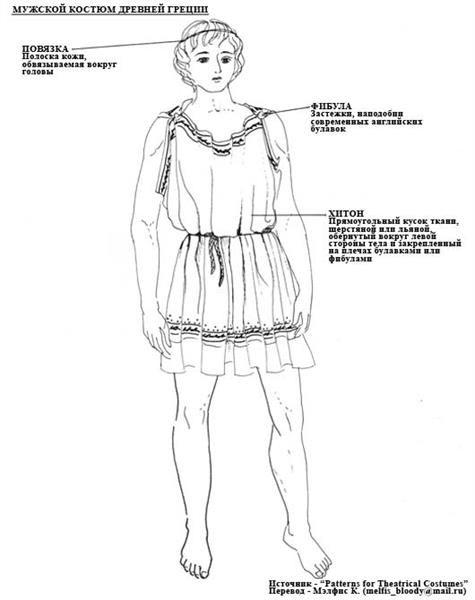 Мужской костюм в греции