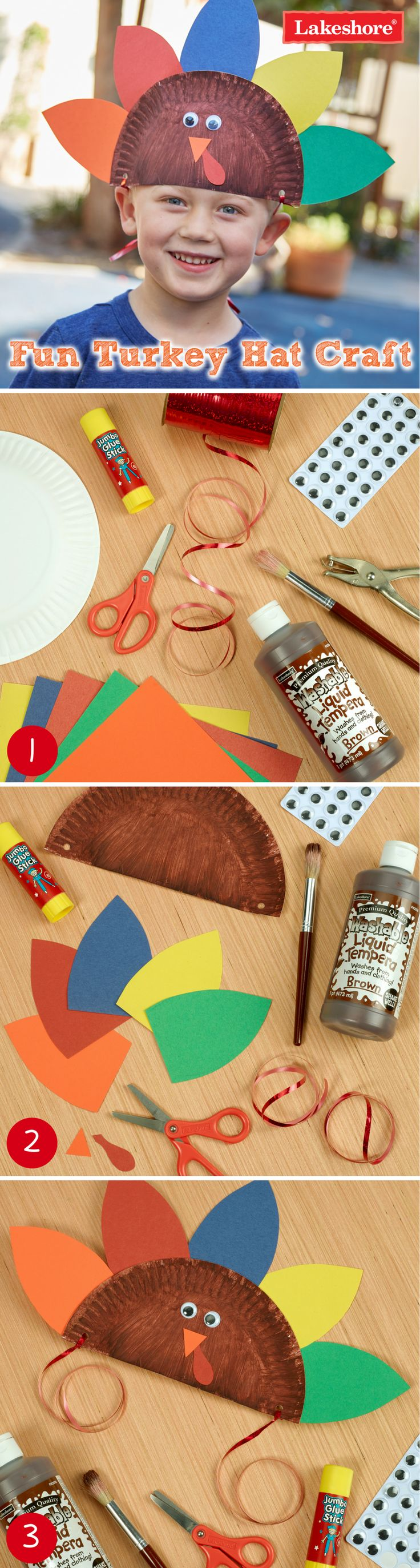 This fun and easy turkey hat craft is perfect for the Thanksgiving holiday!