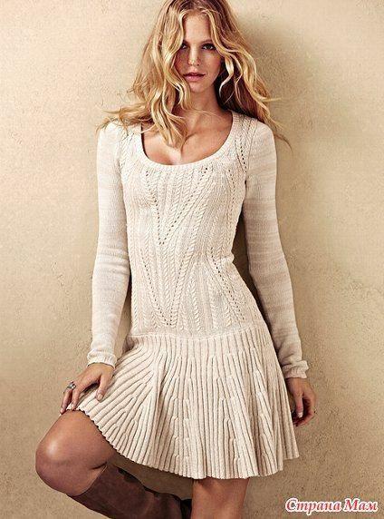 Платье Victoria's Secret Ниточки должны быть тонкие. На зиму — шерсть с акрилом, на лето — хлопок с акрилом. В оригинале — хлопок с акрилом.Я выбрала Вита Бриллиант светло серого цвета 380м в 100 гр. 45% шерсть, 55% акрил. Вязать думаю снизу, сначала резинку, потом основной узор. Маленькие косы 2*2, переплетение в 4-м ряду, большие […]