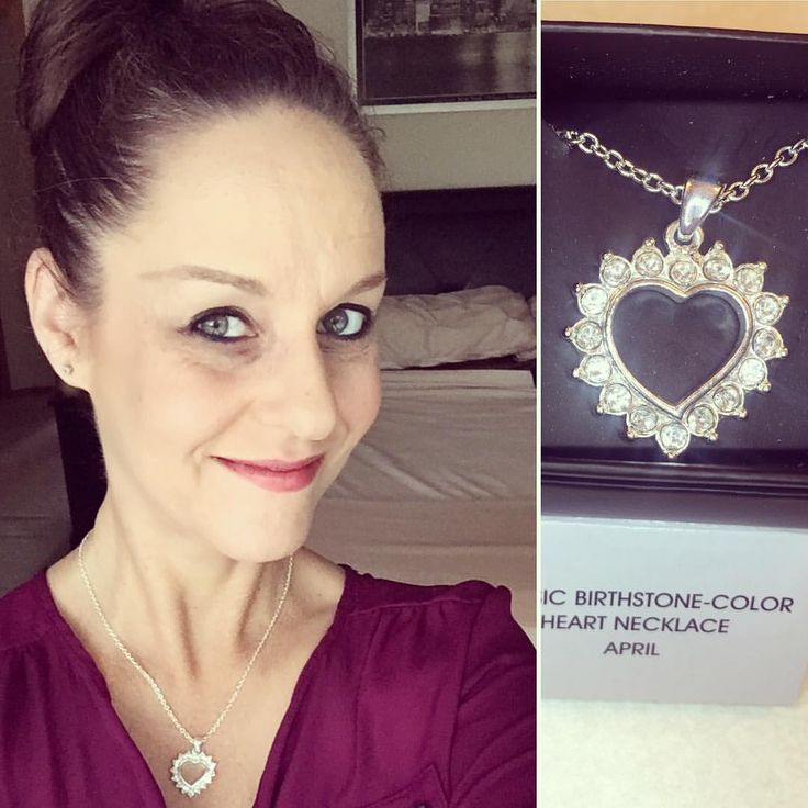 """14 Likes, 1 Comments - Heather Carr (@hethrgood) on Instagram: """"I'm wearing Avon's Classic Birthstone-Color Heart Necklace in April today! Get yours here for only…"""""""
