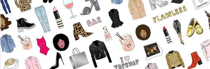 I've always been inspired by animation and illustration work from the '70s, so I definitely tried to incorporate a bit of that feel into the girl emojis. To be honest, though, I didn't really look for much outside inspiration while working on this project. The team at Nordstrom and I came up with a list of emojis that we thought would be fun to include. Everything on the list was so great that I started drawing sketches immediately because I was so inspired by the idea of actually turning…