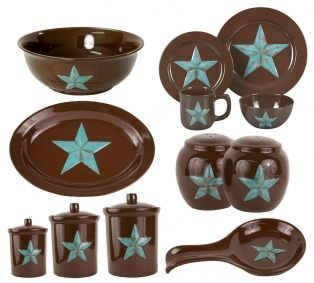 Rustic Western Star Kitchen Dinnerware Set Southern Creek Pictures My House Sets