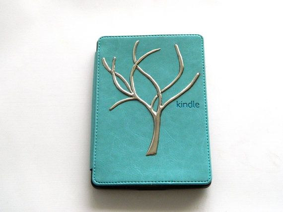Kindle Cover Case Pewter Filigree Tree Ultra Thin Slim by Loutul, £39.00