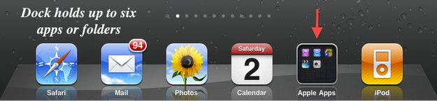 Tip of the Day Friday- Today's iTrick  Brilliant Tricks You Can Do With Your iPad Or iPhone App Additions Easily add apps and folders to the home row on your iPad just like you would move any app on the screen.