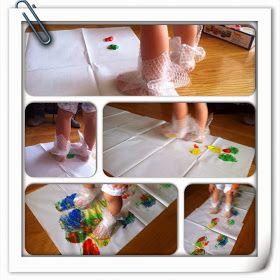 ¿Qué hacemos hoy mamá?: Pintando con plástico de burbujas