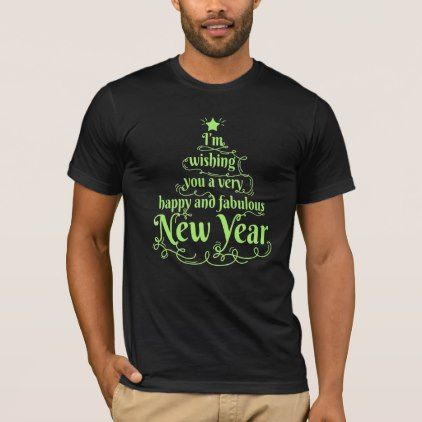 Happy And Fabulous New Year Typography OOO2 T-Shirt - New Year's Eve happy new year designs party celebration Saint Sylvester's Day