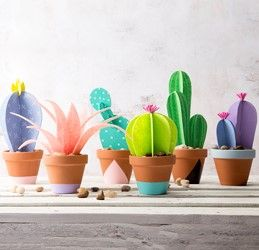 Dont' have a green thumb? Then a Paper Cactus Planter is perfect for you! Make these cute cactus shaped plants to add trend to your home decor.