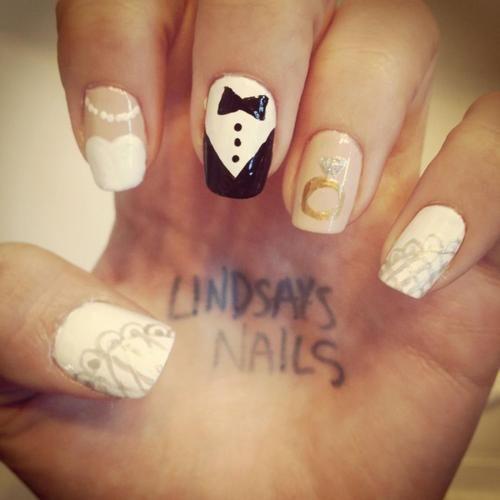 Wedding Nail Art! I'll do this for my wedding