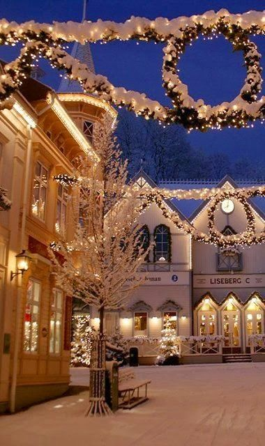 Liseberg during Christmas, Gothenburg, Sweden