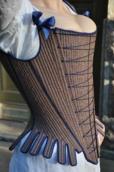 """1740 Stays..... LOVE this corseting shape, it provides such an awesome silhouette, plus """"BOSOMS ON DISPLAY!"""""""