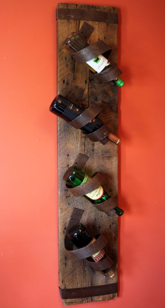 Barn board Wine bottle Holder by BlueOverallDesigns on Etsy, $125.00