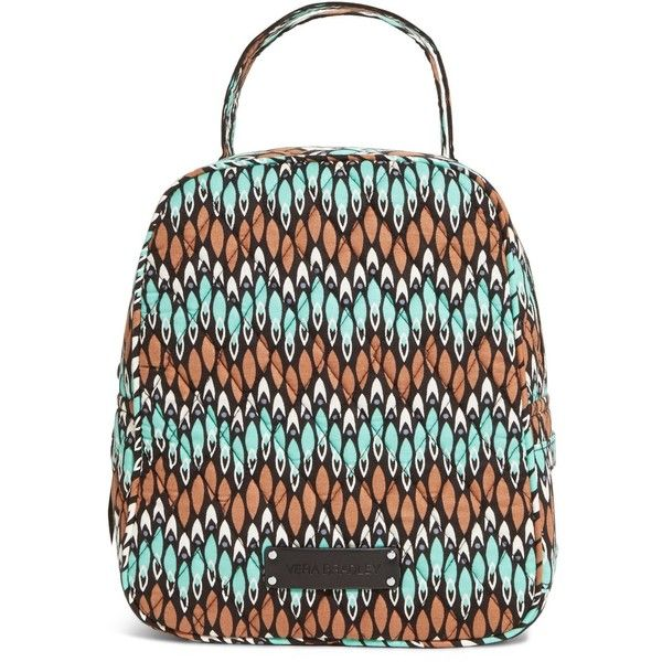 Vera Bradley Lunch Bunch Bag in Sierra Stream ($24) ❤ liked on Polyvore featuring home, kitchen & dining, food storage containers, accessories, lunch bags, sierra stream, lunch thermos, lunch sack, vera bradley and vera bradley bags