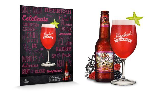 Leinenkugels Berry Weiss Beer POS by Megan Hollstedt-Moodie, via Behance