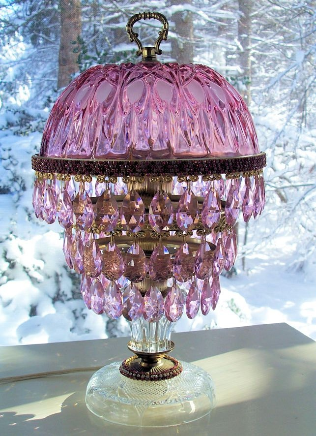 65 Best Vintage Crystal Prism Lamps Images On Pinterest