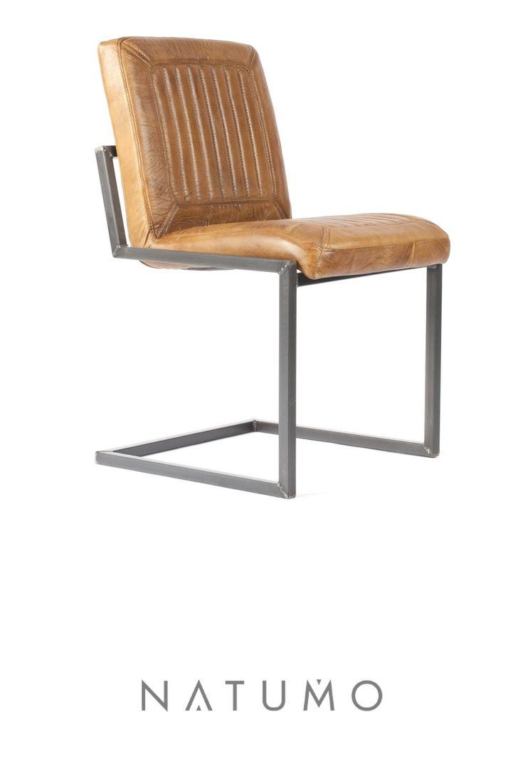 Außergewöhnlich Büffelleder Stuhl Dekoration Von Freischwinger Ohne Armlehne | Kansas | Cognac
