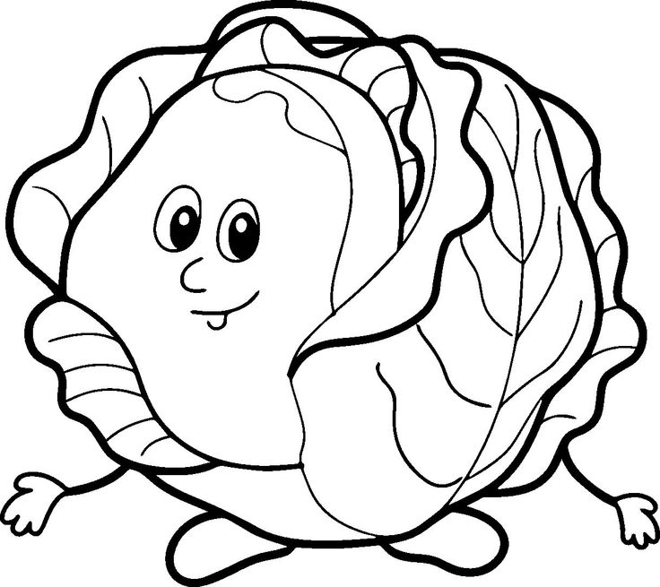 Coloring Pages Of Green Vegetables | Coloring Pages