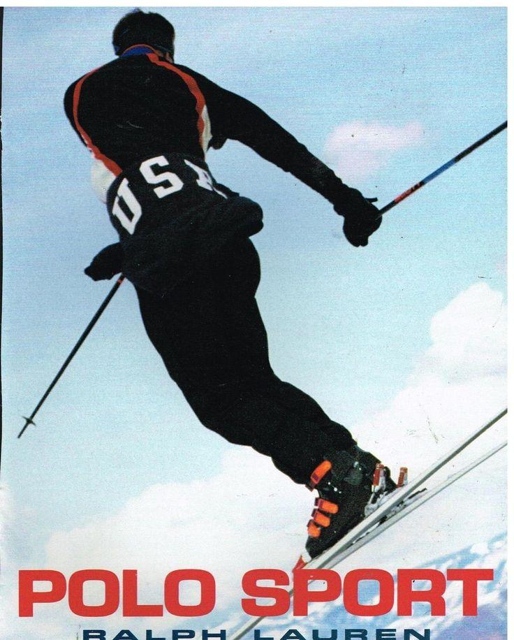 Publicité Advertising 1993 LES Vetements DE SKI Polo Sport Ralph Lauren | eBay