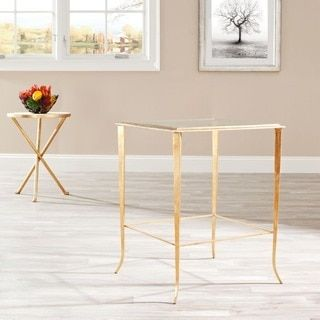 Shop for Safavieh Hidden Treasures Glass Top Brass Accent Table. Get free shipping at Overstock.com - Your Online Furniture Outlet Store! Get 5% in rewards with Club O!