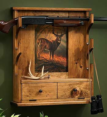 5946271565: Whitetail Deer Gun Rack