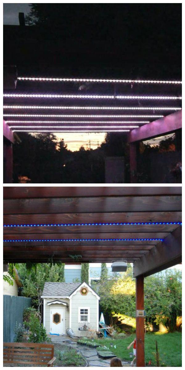 В этом проекте, светодиодные полосы смонтированы на открытых деревянных балках в беседке. Разные режимы спецэффектов позволяют использовать светодиодные полосы в качестве симулятора молний, алкотестера или графического эквалайзера который синхронизируется с музыкой #светодиоды #подсветка #освещение #декор #светодиоднаяподсветка #беседка #подсветкабеседки #освещениетеррасы #подсветкаверанды #освещениенаверанде #освещениевбеседке #светильникидлябеседки #светодиоднаялента