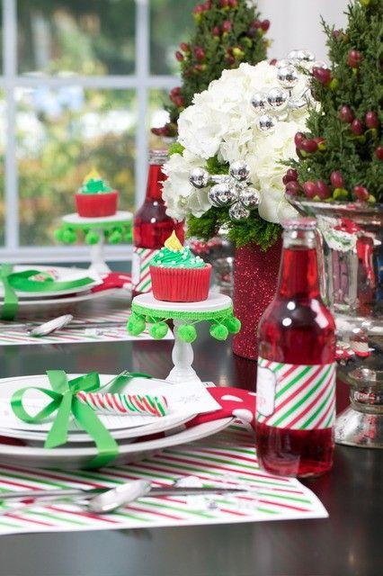 DCS >>> Duo Creative Studio> Home & Events > Colecciona Momentos Christmas Table > Mesa navideña > DIY > Lovely details > Red, Green & White > Blanco, rojo y verde