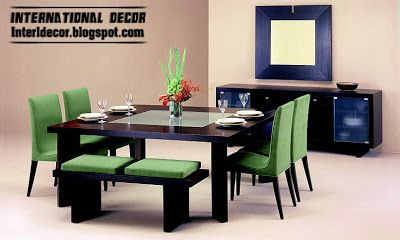 modern Italian dining room furniture ideas, green dining room furniture design