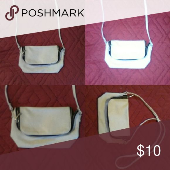 All white H&M purse Cross body all white h&m purse. New. No holes no STAINS. H&M Bags